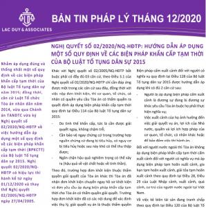 BẢN TIN PHÁP LÝ THÁNG 12/2020